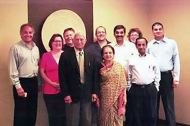 Vice Chairman D.N. Mehta, his wife and the crew, at Monarch Plastics Inc
