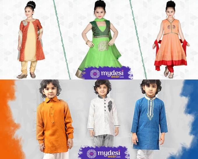 Kid's Diwali ethnic wear- mydesiwear.com