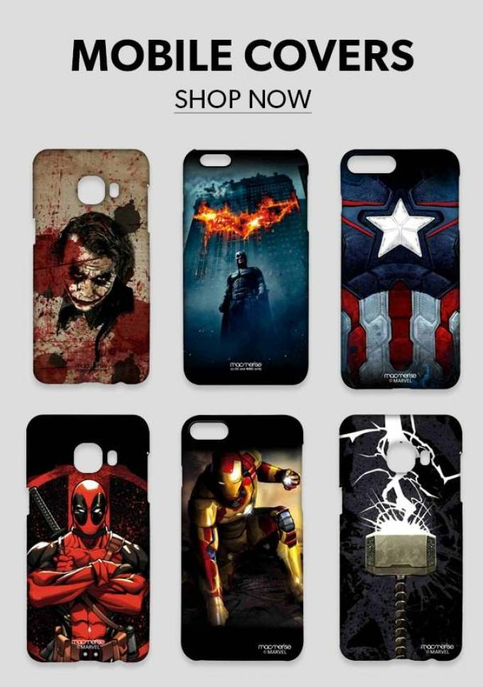 Protect your most treasured gadget with Superhero Mobile Back Covers