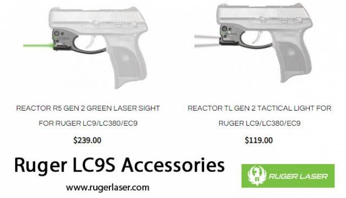 Ruger LC9S Accessories With the Viridian Light